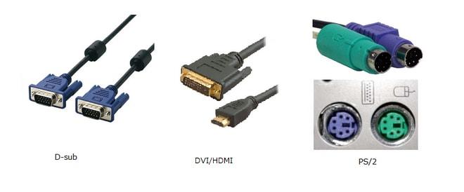 図4:PCとその周辺機器を接続する端子