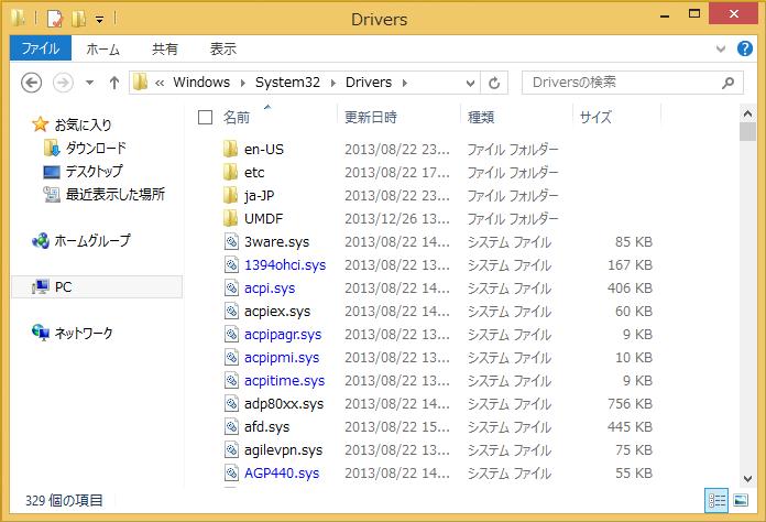 図1:ドライバファイル